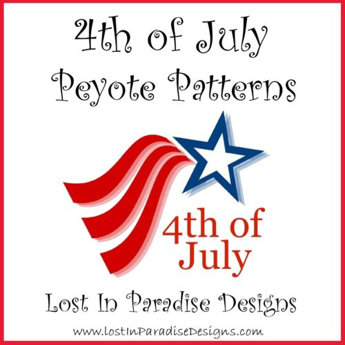 4TH OF JULY PATTERNS PEYOTE STITCH